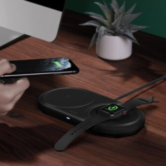 Baseus Planet 3in1 10W juhtmevaba Qi laadija Telefon AirPods Apple Watch seinadapter must 12