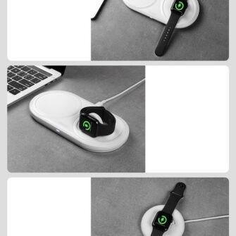 Baseus Planet 3in1 10W juhtmevaba Qi laadija Telefon AirPods Apple Watch seinadapter must 15