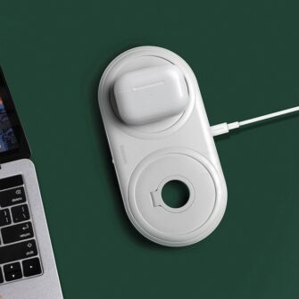 Baseus Planet 3in1 10W juhtmevaba Qi laadija Telefon AirPods Apple Watch seinadapter must 16