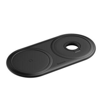 Baseus Planet 3in1 10W juhtmevaba Qi laadija Telefon AirPods Apple Watch seinadapter must 2