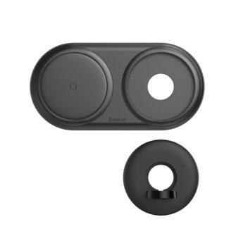 Baseus Planet 3in1 10W juhtmevaba Qi laadija Telefon AirPods Apple Watch seinadapter must 5