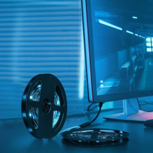 Baseus värviline kleebitav SMD 1m LED riba pikendus 8