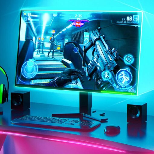 Baseus värviline kleebitav SMD LED riba 1.5m USB 8