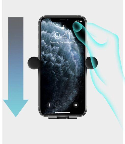 Gravitatsiooniga horisontaalne ja vertikaalne telefonihoidik autole 10