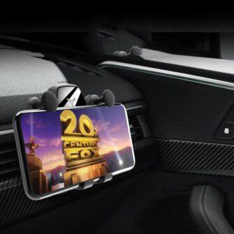 Gravitatsiooniga horisontaalne ja vertikaalne telefonihoidik autole 13