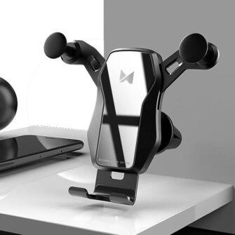 Gravitatsiooniga horisontaalne ja vertikaalne telefonihoidik autole 6