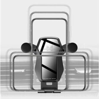 Gravitatsiooniga horisontaalne ja vertikaalne telefonihoidik autole 7
