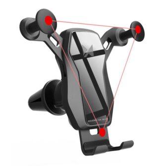Gravitatsiooniga horisontaalne ja vertikaalne telefonihoidik autole 8