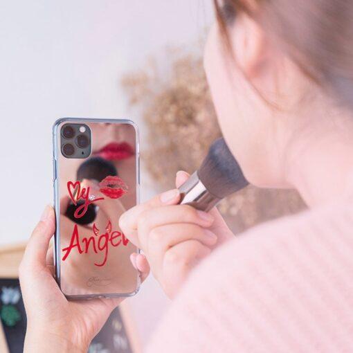 Kingxbar Angel mirror case decorated with original Swarovski crystals iPhone 11 transparent 1