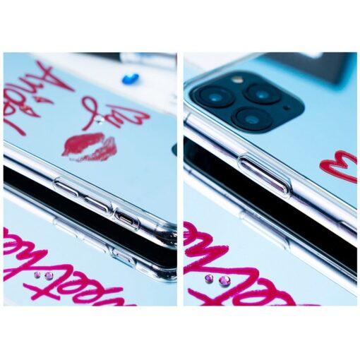 Kingxbar Angel mirror case decorated with original Swarovski crystals iPhone 11 transparent 10