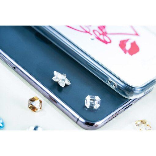 Kingxbar Angel mirror case decorated with original Swarovski crystals iPhone 11 transparent 7