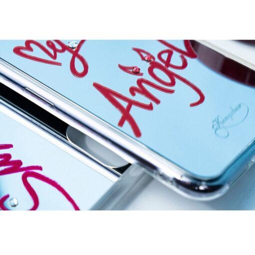 Kingxbar Angel mirror case decorated with original Swarovski crystals iPhone 11 transparent 8