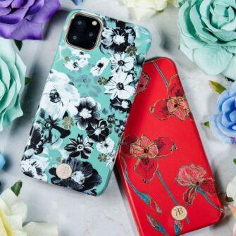 Kingxbar Blossom case decorated with original Swarovski crystals iPhone 11 multicolour Daisy 14