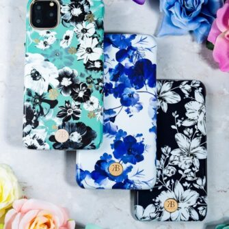 Kingxbar Blossom case decorated with original Swarovski crystals iPhone 11 multicolour Daisy 15