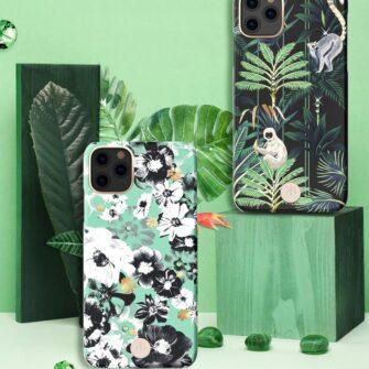Kingxbar Blossom case decorated with original Swarovski crystals iPhone 11 multicolour Daisy 5