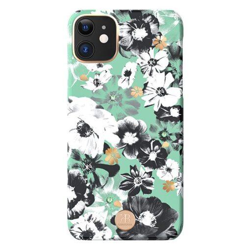 Kingxbar Blossom case decorated with original Swarovski crystals iPhone 11 multicolour Daisy