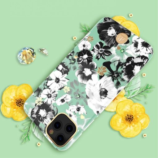Kingxbar Blossom case decorated with original Swarovski crystals iPhone 11 multicolour Daisy 8
