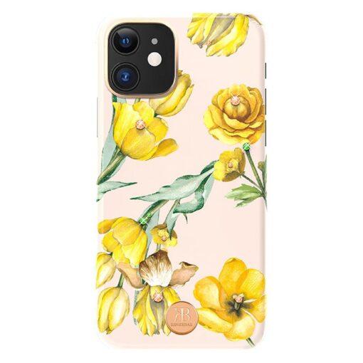 Kingxbar Blossom case decorated with original Swarovski crystals iPhone 11 multicolour Jasmine