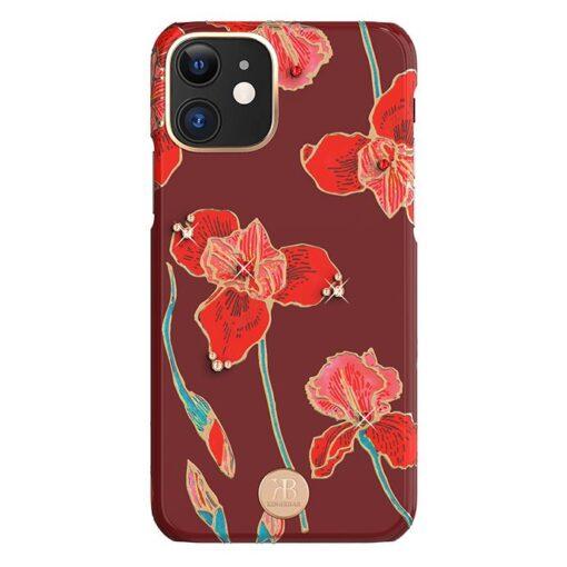 Kingxbar Blossom case decorated with original Swarovski crystals iPhone 11 multicolour Kapok