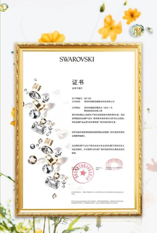 Kingxbar Blossom case decorated with original Swarovski crystals iPhone 11 multicolour Kapok 6