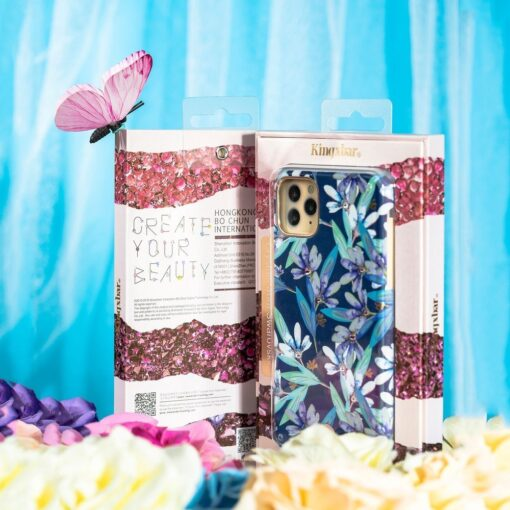 Kingxbar Blossom case decorated with original Swarovski crystals iPhone 11 multicolour Lily 16