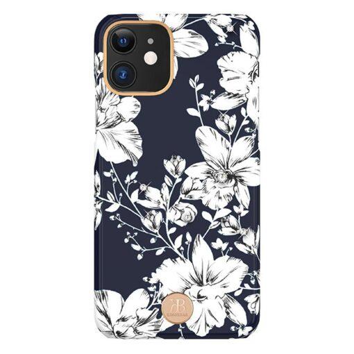 Kingxbar Blossom case decorated with original Swarovski crystals iPhone 11 multicolour Lily