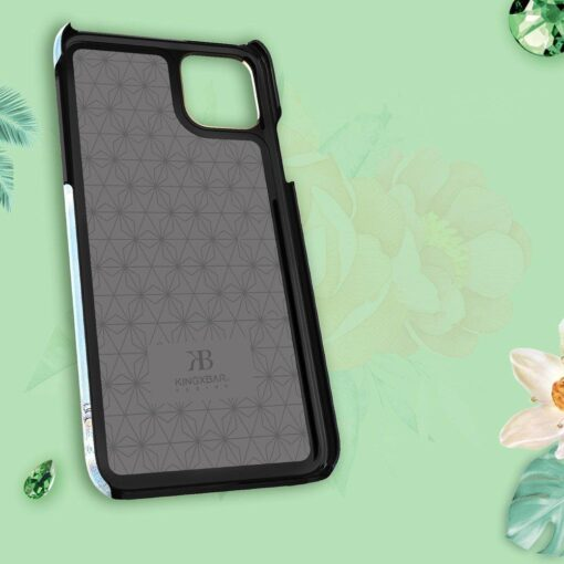 Kingxbar Blossom case decorated with original Swarovski crystals iPhone 11 multicolour Peony 10