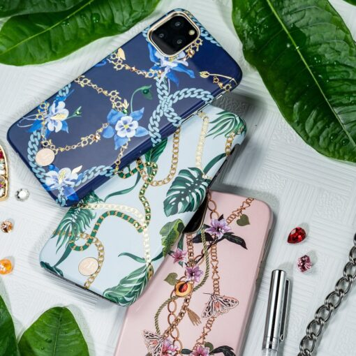 Kingxbar Luxury Series case decorated with original Swarovski crystals iPhone 11 blue 10
