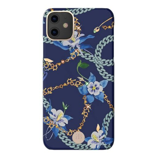 Kingxbar Luxury Series case decorated with original Swarovski crystals iPhone 11 blue