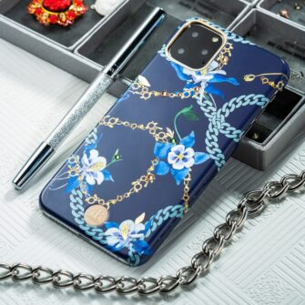 Kingxbar Luxury Series case decorated with original Swarovski crystals iPhone 11 blue 7