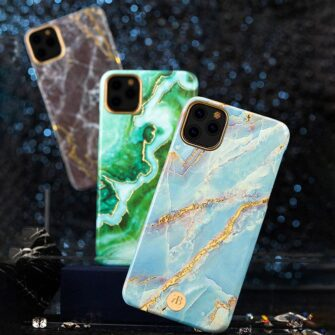 Kingxbar Marble Series case decorated printed marble iPhone 11 black 1