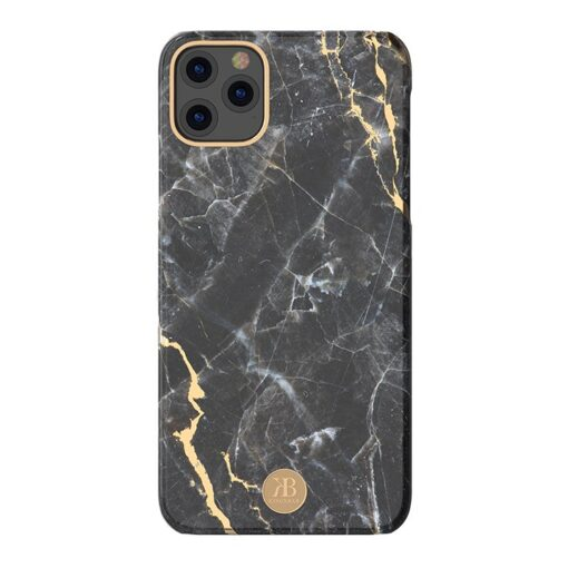 Kingxbar Marble Series case decorated printed marble iPhone 11 black