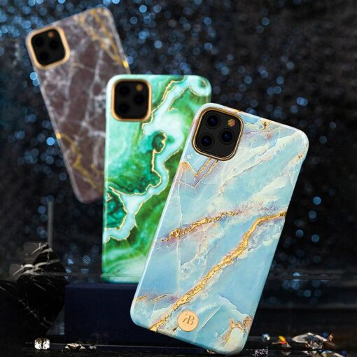 Kingxbar Marble Series case decorated printed marble iPhone 11 blue 1