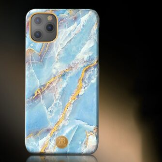 Kingxbar Marble Series case decorated printed marble iPhone 11 blue 2