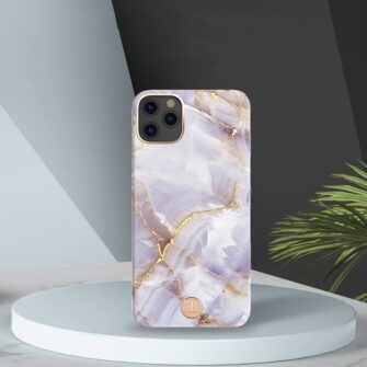 Kingxbar Marble Series case decorated printed marble iPhone 11 blue 3