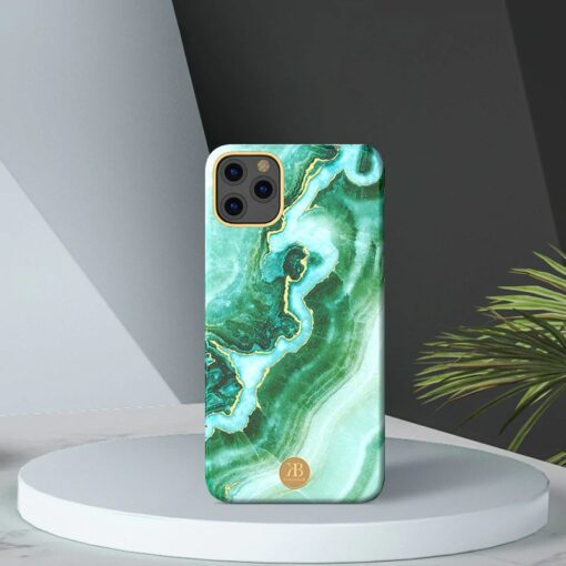 Kingxbar Marble Series case decorated printed marble iPhone 11 blue 4