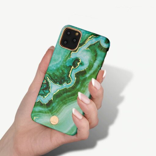 Kingxbar Marble Series case decorated printed marble iPhone 11 blue 5
