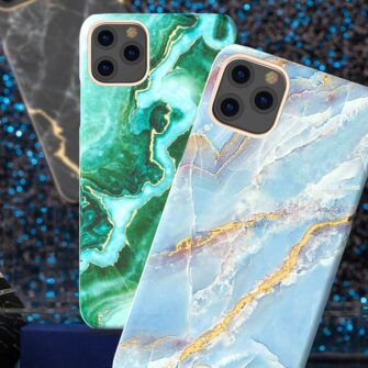 Kingxbar Marble Series case decorated printed marble iPhone 11 green 1