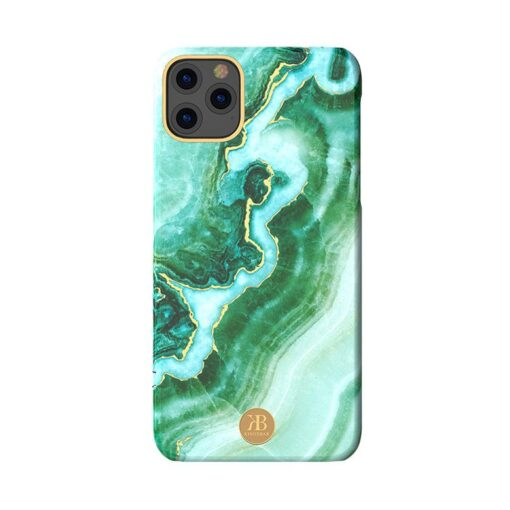 Kingxbar Marble Series case decorated printed marble iPhone 11 green