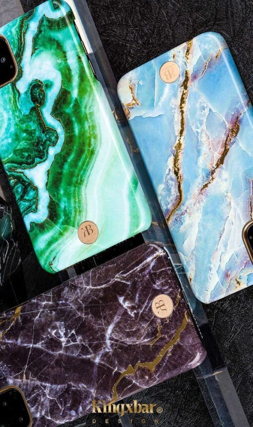 Kingxbar Marble Series case decorated printed marble iPhone 11 green 7