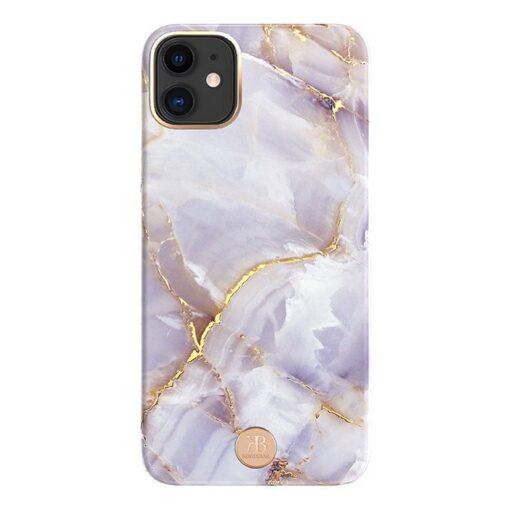 Kingxbar Marble Series case decorated printed marble iPhone 11 purple