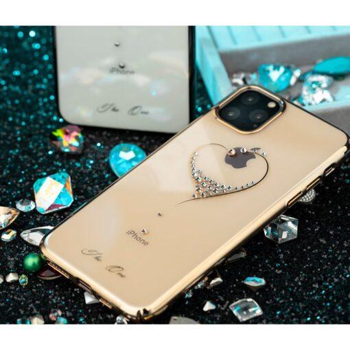 Kingxbar Wish Series case decorated with original Swarovski crystals iPhone 11 black 11