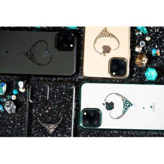 Kingxbar Wish Series case decorated with original Swarovski crystals iPhone 11 black 13