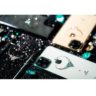 Kingxbar Wish Series case decorated with original Swarovski crystals iPhone 11 black 14