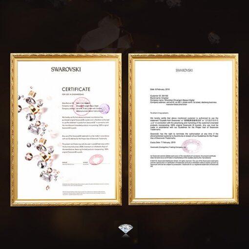 Kingxbar Wish Series case decorated with original Swarovski crystals iPhone 11 black 8