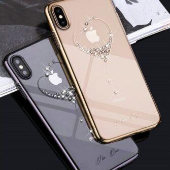 Kingxbar Wish Series case decorated with original Swarovski crystals iPhone 11 black 9