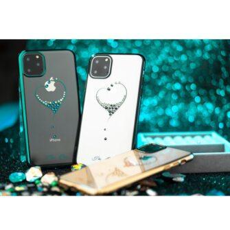 Kingxbar Wish Series case decorated with original Swarovski crystals iPhone 11 silver 12