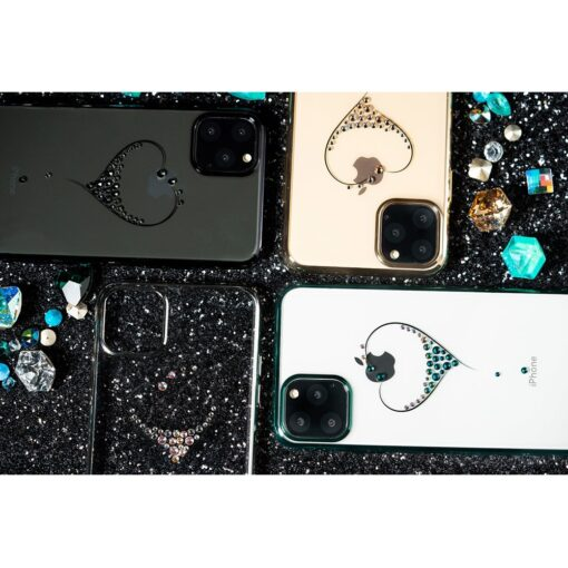 Kingxbar Wish Series case decorated with original Swarovski crystals iPhone 11 silver 13