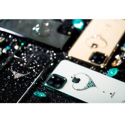 Kingxbar Wish Series case decorated with original Swarovski crystals iPhone 11 silver 14