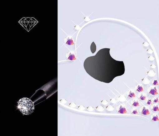 Kingxbar Wish Series case decorated with original Swarovski crystals iPhone 11 silver 2